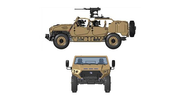 Ajban SOV 4x4 Special Operations Vehicle long-range reconnaissance 4 crew UAE United Arab Emirates defense industry 640 001