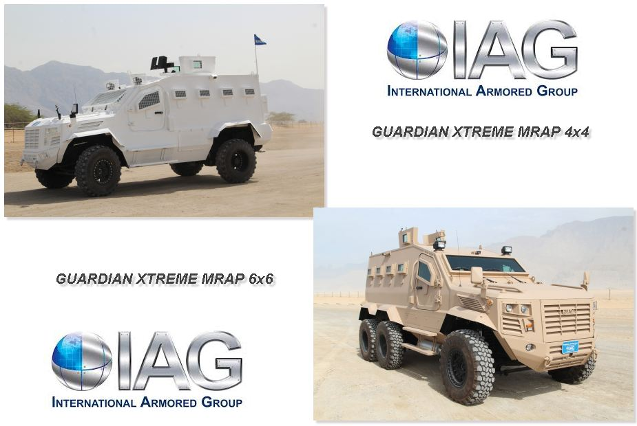Guardian Xtreme APC 4x4 6x6 MRAP Mine Resistant Ambush Protected vehicle IAG United Arab Emirates 925 001