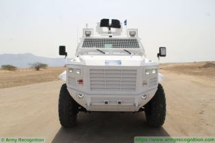 Guardian Xtreme APC 4x4 MRAP Mine Resistant Ambush Protected vehicle IAG United Arab Emirates front view 001