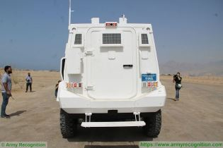 Guardian Xtreme APC 4x4 MRAP Mine Resistant Ambush Protected vehicle IAG United Arab Emirates rear view 001