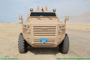 Guardian Xtreme APC 6x6 MRAP Mine Resistant Ambush Protected vehicle IAG United Arab Emirates front view 001