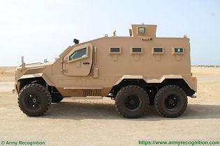 Guardian Xtreme APC 6x6 MRAP Mine Resistant Ambush Protected vehicle IAG United Arab Emirates left side view 001