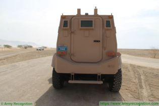 Guardian Xtreme APC 6x6 MRAP Mine Resistant Ambush Protected vehicle IAG United Arab Emirates rear view 001