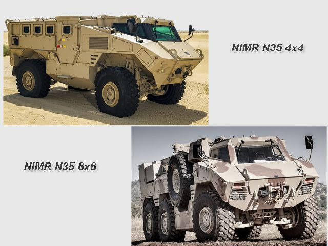 N35 Class 4x4 6x6 mine protected armoured vehicle NIMR Automotive UAE United Arab Emirates defense industry 640 001