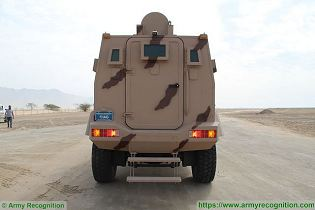 Rila 4x4 MRAP Mine Resistant Ambush Protected vehicle APC personnel carrier IAG United Arab Emirates rear view 001