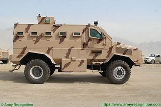 Rila 4x4 MRAP Mine Resistant Ambush Protected vehicle APC personnel carrier IAG United Arab Emirates right side view 001
