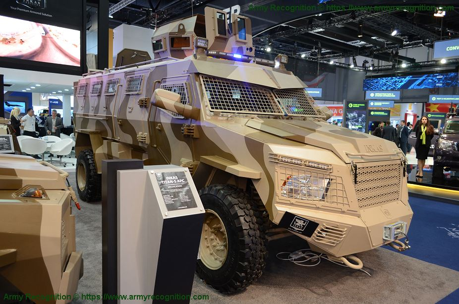 Titan-S Inkas 4x4 APC armored personnel carrier vehicle data