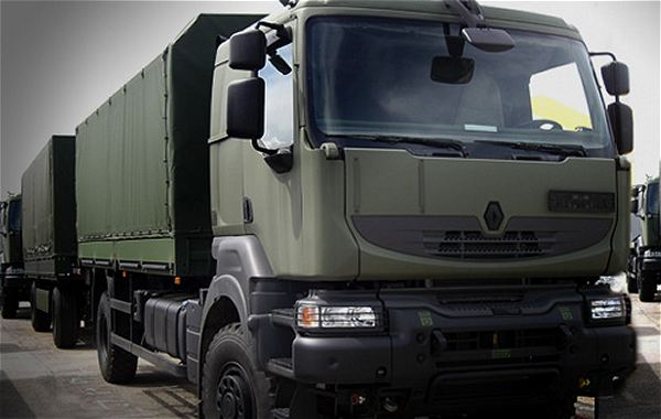 the egyptian ministry of defense selected the truck kerax 6x4 renault trucks defense december. Black Bedroom Furniture Sets. Home Design Ideas