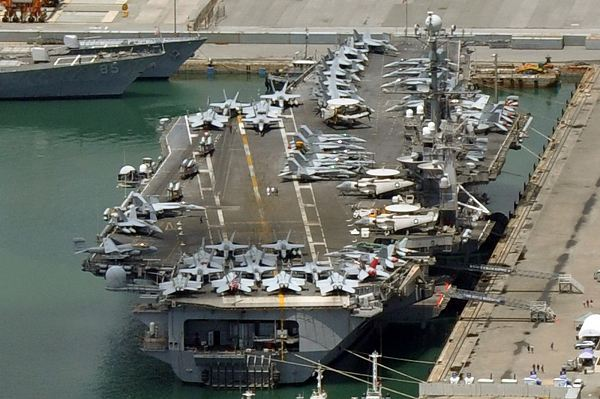 Uss george washington aircraft carrier is one of the vessels taking