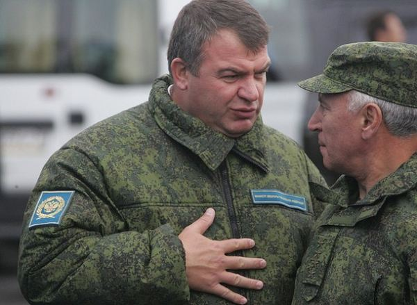 Russian defense minister anatoly serdyukov and the head of china s