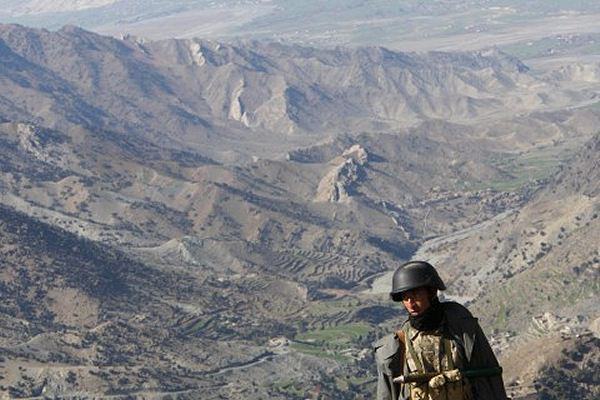 Afghan and Pakistani troops exchanged fire across the border on Wednesday, said officials, blaming each other for provoking the incident that left one Pakistani soldier dead. A border police commander in Afghanistan's eastern province of Khost confirmed the exchange of fire and accused Pakistan of sparking the battle.