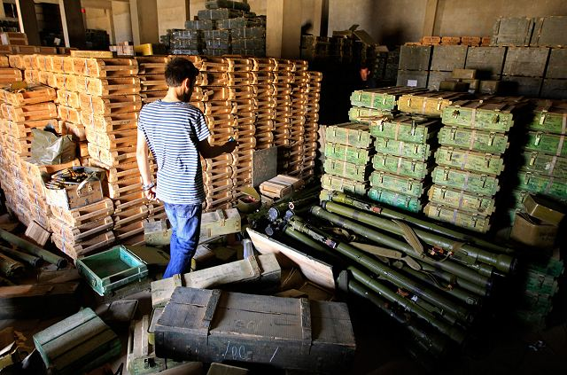 The Libyan rebels must also used old stocks of weapons and ammunition which were captured in old government military bases. Many members of the Libyan rebel army work on captured weapons to repair them and to make it in operational capability.