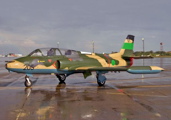 Libyan strongman Moammar Gadhafi challenged the allies' no-fly zone for the first time today, sending up a warplane 'Galeb' over the city of Misrata where it was quickly shot down by French fighter jets, a senior French military official said.