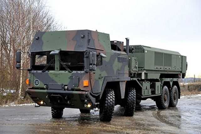 The first MEADS power and communications unit recently completed acceptance testing in Germany and will power the first Multifunction Fire Control Radar (MFCR) during integration tests at Pratica di Mare, Italy. The truck-mounted power and communications unit provides power for the MEADS MFCR and the surveillance radar. It includes a diesel-powered generation unit. A separate commercial power interface unit permits radar operation using commercial power (50 Hertz/60 Hertz).