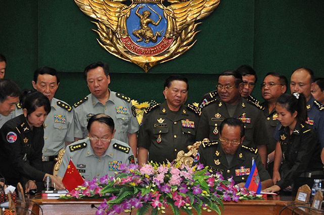 Cambodia China signed military cooperation agreement with ...