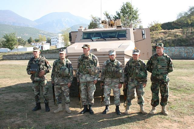 "The French company ""NEXTER Systems"", in cooperation with the Albanian Land Forces, organised in October at the training area of the Special Forces Battalion in Zall-Herr a demonstration of the armored vehicle ""ARAVIS""."