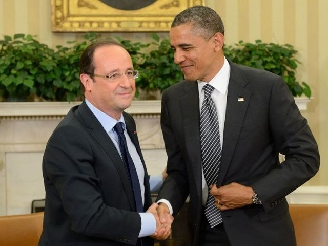 U.S. President Barack Obama on Sunday, August 26, 2013, conversed with his French counterpart Francois Hollande over phone to discuss possible coordinated response to the alleged chemical weapons use by Syrian government forces.