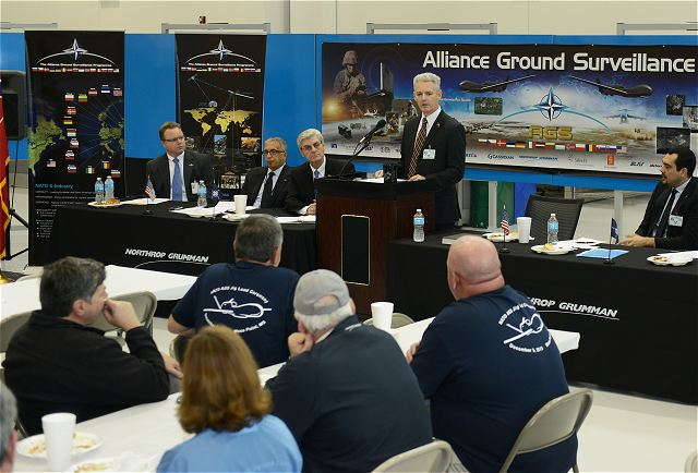 Northrop Grumman Corporation (NYSE: NOC) Moss Point, Mississippi, Unmanned Systems Center comenzó la producción de la primera OTAN Alliance Ground Surveillance (AGS) Bloque 40 aviones Global Hawk, mejorado para satisfacer las necesidades operacionales de la OTAN.