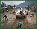 United Nations peacekeepers in eastern Democratic Republic of the Congo (DRC) Wednesday, December 25, 2013, helped the national armed forces retake control over a town following an attack by a Ugandan rebel group that left dozens dead and displaced many more.