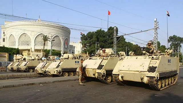 The British government has halted the export of arms to Egypt over fears of military forces using excessive force in dealing with protesters. Britain revoked eight export licenses for defense equipment bound for Egypt, The Guardian reported.