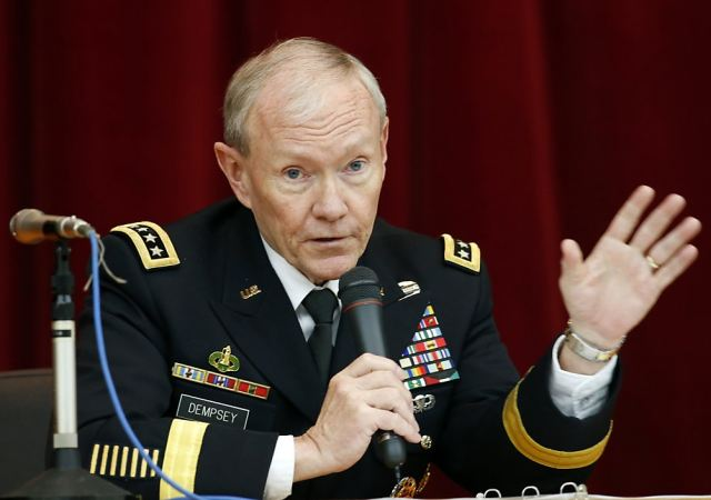 "Joint Chiefs of Staff chairman of U.S. Armed Forces Gen Martin Dempsey offered five military options to control the conflict in Syria, including limited strikes and establishing a no-fly zone. But he said using force in Syria would be ""no less than an act of war"" and could cost the US billions of dollars."