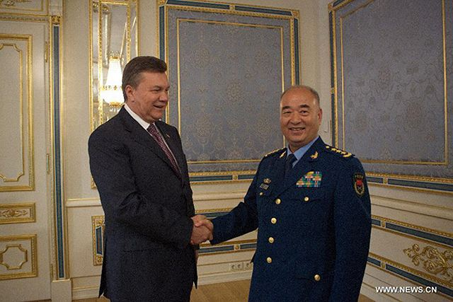 Visiting Chinese Vice Chairman of the Central Military Commission Xu Qiliang on Thursday pledged strengthened ties and cooperation in various fields with Ukraine. Xu made the remarks while meeting with Ukrainian President Viktor Yanukovych. Xu said that the strategic partnership between China and Ukraine has been developing continuously thanks to the attention of the two countries' top leaders.