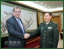 Qi Jianguo, deputy chief of general staff of the Chinese People's Liberation Army (PLA), met with Brendan Sargeant, the visiting deputy secretary strategy of the Australian Department of Defence, in Beijing, Thursday, May 2, 2013.