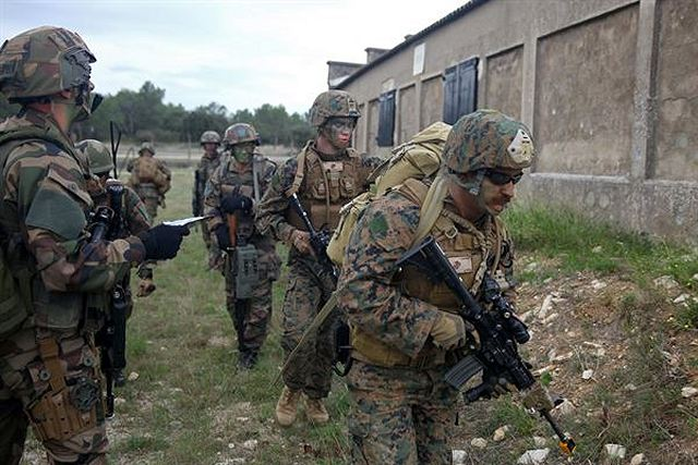 U.S. Marines with Special-Purpose Marine Air-Ground Task Force Crisis Response, the Marine Corps' newest unit, spent Oct. 28 to Nov. 1 near Camp des Garrigues, France, training with Legionnaires from France's 2nd Foreign Infantry Regiment.