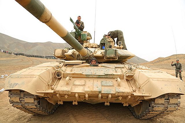 On September 19, 2013, a firing range in Peru saw demonstration of the T-90S tank of the Uralvagonzavod produce for Gen. Ricardo Moncada Novoa, Commander-in-Chief Land Forces and 300 officers.