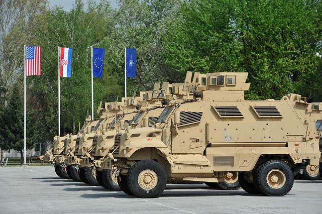 "Thirty Mine-Resistant Ambush-Protected Vehicles MRAP MaxxPro for logistic use, donated by the U.S. Government to the Republic of Croatia, were officially taken over in the ""Croatia"" Barracks in Zagreb on 7 April 2014."