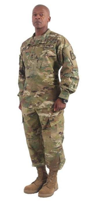 Combat uniforms featuring the United States Army's newest camouflage pattern will be available for sale in the summer of 2015, officials announced Thursday. The U.S. Army is calling its new camo the Operational Camouflage Pattern, though it's been referred to in previous tests as Scorpion W2. The pattern, with a color palette of muted greens, light beige and dark brown, was developed by Army Natick Labs in Massachusetts.