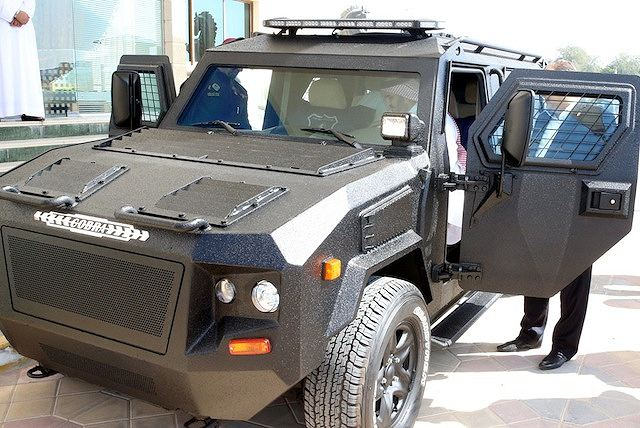 The United Arab Emirates Ministry of Interior RAK (Ras Al Khaimah) police general headquarters has take delivery of first Cobra 4x4 armoured vehicle manufactured by the Company Streit Group. This comes in line with the Ministry of Interior's objectives to provide the highest level of safety for the community.