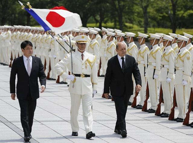 Japan and France today agreed to enhance defence cooperation, including the joint development of military equipment, Japanese officials said. Japan's Defence Minister Itsunori Onodera and his French counterpart Jean-Yves Le Drian signed a memorandum of understanding in Tokyo despite Japanese concerns about a planned sale of French warships to Russia. (Source the Malay Mail)