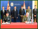 Chinese and Serbian defense ministries Wednesday, July 23, 2014, signed a protocol by which China agreed to donate technical and medical equipment worth 355,000 euros (about 479,250 U.S. dollars) as a way of assistance after heavy floods hit the country mid-May.