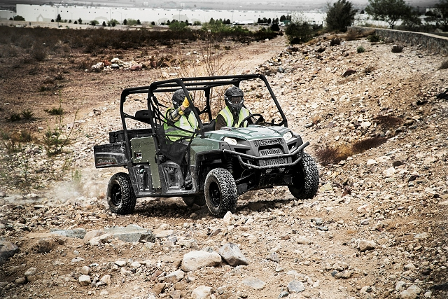 Polaris Industries Inc. (NYSE: PII), has engineered a Polaris® RANGER CREW® Diesel side-by-side utility vehicle with an integrated multi-power system, a first for vehicles in this category. A flip of a switch allows operators to power hydraulic, pneumatic, electric and welding equipment directly from the vehicle's diesel engine through the integrated HIPPO™ Multipower™ System from the Mobile Hydraulic Equipment Company.
