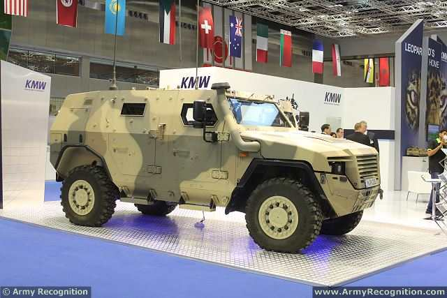 The Germany Company KMW (Krauss-Maffei Wegmann) introduces latest generation of AMPV (Armoured Multi-Purpose armoured vehicle) for the Middle East market at DIMDEX 2014, the International Naval and Maritime defence exhibition which helds from the 25 to 27 March 2014 in Doha, Qatar.