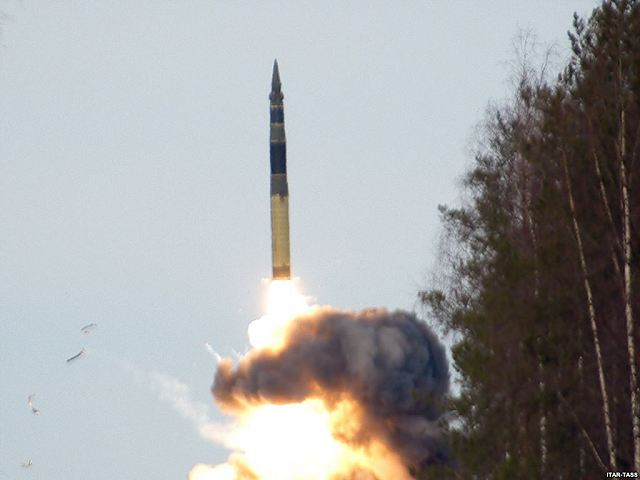 Russia has test-fired an intercontinental ballistic missile Topol RS-12 (NATO code SS-25 Sickle Intercontinental Ballistic missile (ICBM) from a test site in southern Russia on Tuesday, March 3, 2014, evening, a Russian defense ministry spokesman said.
