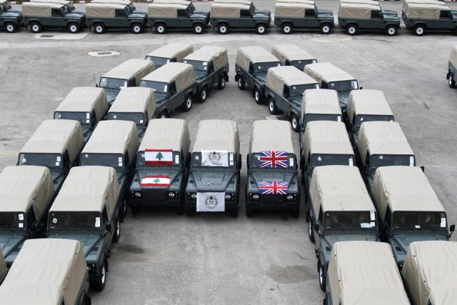 British Land Rover given as aids by UK to Lebanese army in December 2013