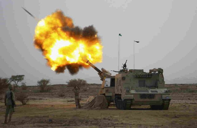 Saudi Arabia armed forces use Chinese-made PLZ45 155mm howitzer to fight rebels in Yemen 640 001