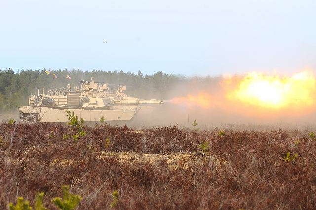 United States Army performs live firing demonstration with M1A2 Abrams tanks in Lithuania 640 001