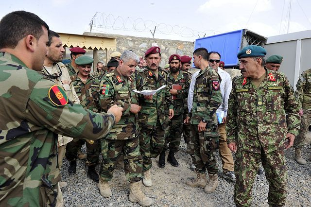 Afghan National Army Police worked together during combat operations in eastern Afghanistan 640 001