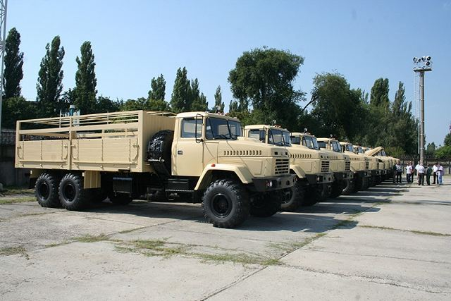 Egypt will take delivery of KrAZ-6322 6x6 long chassis military truck tactical vehicles 640 001