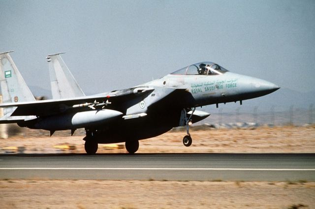 Warplanes from Saudi-led Arab coalition destroyed air defense systems in Yeman air force base 640 001