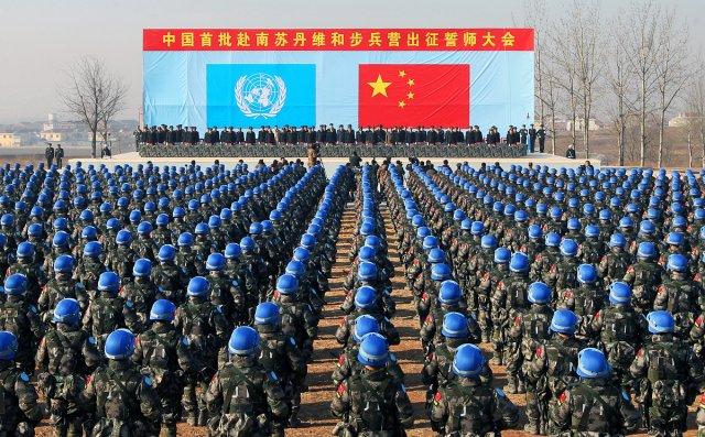 China starts sending second batch of peackeeping infantry battalion to South Sudan 640 001