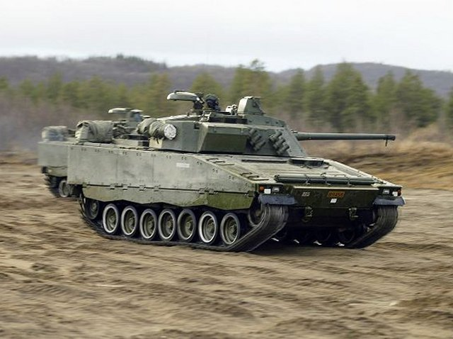 BAE SYSTEMS DELIVERS FIRST OF 144 CV90S TO NORWAY