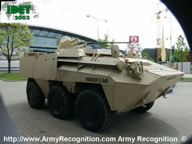 General Dynamics European Land Systems and Excalibur join forces to promote Pandur II 8x8 armored 640 001
