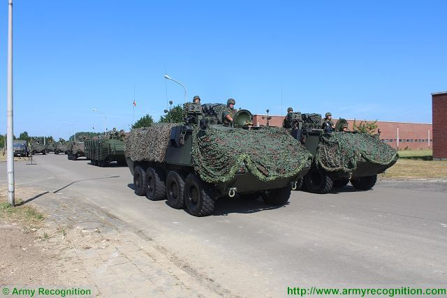 Belgian army military parade for the National Day in Belgium with troops and combat vehicles 640 001