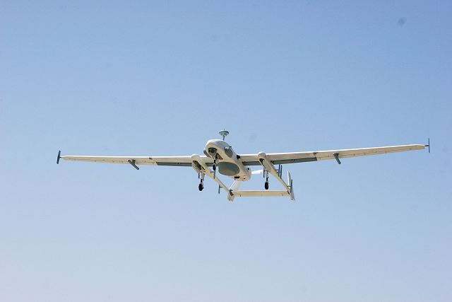 IAI and Thales have integrated datalink capability on Heron MALE UAV Unmanned Aerial Vehicle 640 001