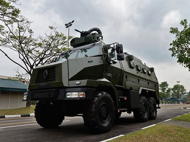 Renault Trucks Defense HIGUARD 6x6 armored enters in service wiith Singapore Armed Forces 640 001