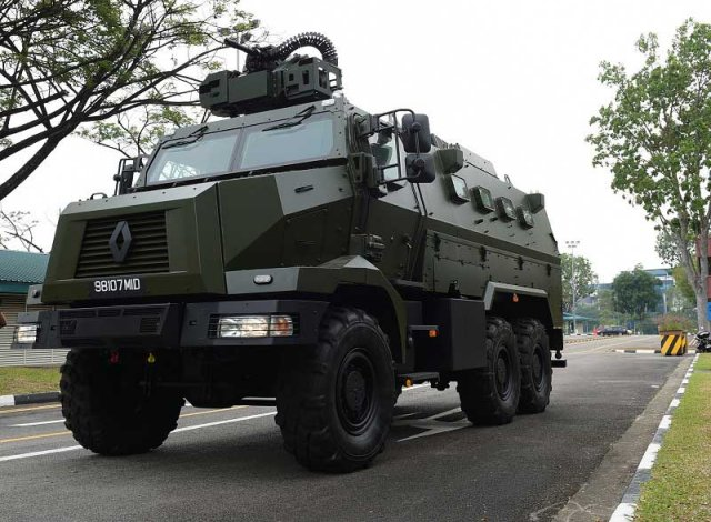 Singapore Army commissions Peacekeeper Protected Response Vehicle (PRV) armoured vehicle